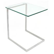 LumiSource Zenn Glass End Table