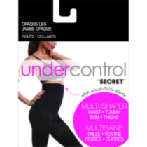 Undercontrol by SECRET® opaque leg high waist tights L