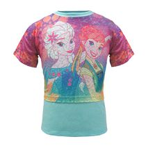 Disney Frozen Girls' Sublimated U-Neck Shirt 6