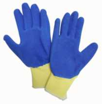 Kodiak Blue Rubber Coated Work Glove, 01W68