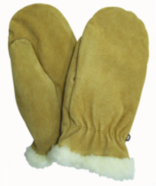 Kodiak Rusty Cowsplit Leather Work Mitt, 04W90 Large