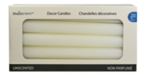 "20 Pack Unscented 8"" Columns - White"