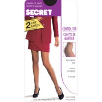 Secret Control Top Pantyhose nightshade C
