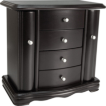 Java finish petite armoire style jewellery box