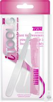 Trim iTools Slant Tip Tweezers with Styling Tool and Brow Stencil
