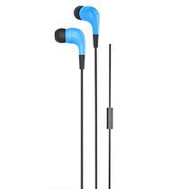 ONN Earbud Headphones with Microphone - Blue