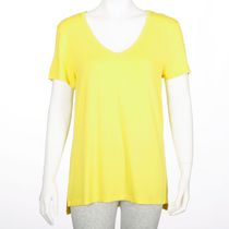 George Women's Dressy V-neck Tee Yellow XS