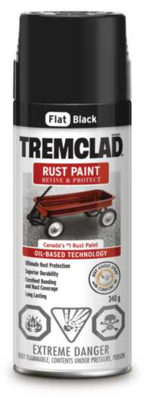 Tremclad Rust Paint - Flat Black 340g