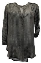 George Plus Women's Airflow Popover Blouse Black Combo 2X