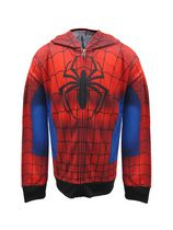 Spiderman Boys' Costume Hoodie M