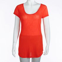 George Women's Burnout T-Shirt Orange M/M