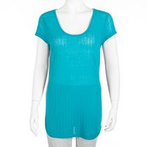 George Women's Burnout T-Shirt Teal L/G