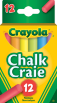 Crayola Coloured Chalk - 12's