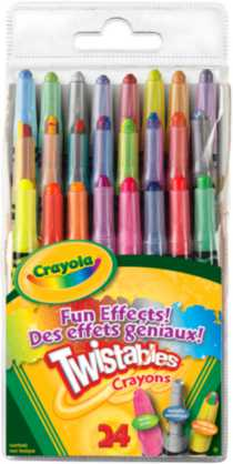 24ct Mini Twistables® Crayons Fun Effects