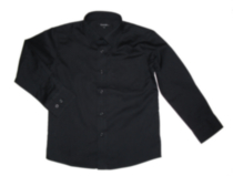 George Boys' Dress Shirt Black 10 IN