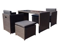 Henryka 5-Piece Conversation Patio Set - Brown