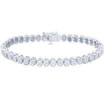 Women's Sterling Silver Diamond Bracelet