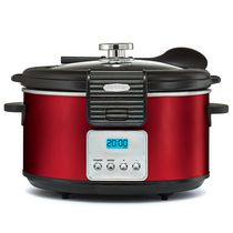 BELLA Linea 5Qt. Programmable Slow Cooker Red