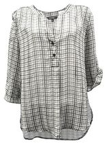 George Women's Airflow Popover Blouse White and Grey XL