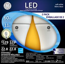 General Electric 11W Soft White LED Bulb A19