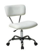 Chaise Vista de Office Star, vinyle blanc