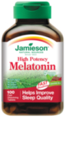 Jamieson Melatonin Fast Dissolving Chocolate Mint Tablets, 5 mg