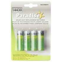 Paradise BA25400LT4 400 mAh Solar Light Replacement Batteries