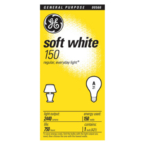 GE 150W Soft White A21 Bulb 1 Pack