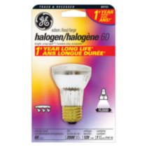 GE 60W PAR16 Halogen Flood 1 pack