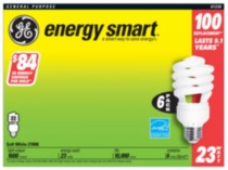 GE Energy Smart Spiral CFL 26W T3 6pk