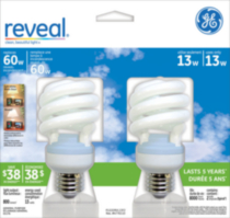 GE Energy Saving Reveal 13W CFL Spiral 2pk