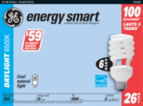 GE Energy Smart 26W Daylight 6pk