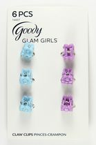Goody Glam Girls Mini Claw Clips - Blue & Purple