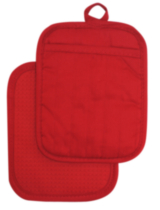 Hometrends Potholder with Silicone Red