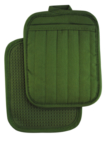 Hometrends Potholder with Silicone Green