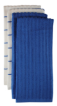 Mainstays Kitchen Towels-4 pack Blue