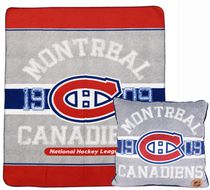 NHL Montreal Canadiens Fleece Throw and Cushion