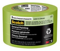 Scotch® 2055PCW-24x3, 24mm x 55m General Painting Masking Tape Contractor Pack