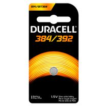 Duracell 384/392 1.5V Silver Oxide Watch/Electronic Battery