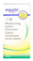Equate moisturizing Lotion Sunscreen SPF15