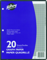 Refill Paper Graph, Metric Quad , 10-7/8 X 8-3/8, 40 Pages