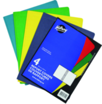 Report Covers, 4 pack assorted, 9-1/8 x 11-1/2