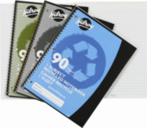 Hilroy Recycled Notebook, 1 subject , 10-½ x 8, 90 Page, Assorted Colours