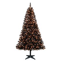 Holiday Time Madison™ 6.5' Black Pine Christmas Tree with Clear Lights