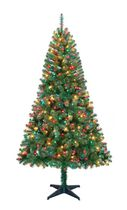 Holiday Time Madison™ 6.5' Green Pine Christmas Tree with Multicolour Lights