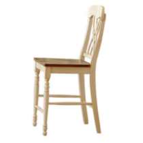 Chaise de comptoir en bois massif blanc de Topline Home Furnishings