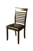 Topline Home Furnishings Solid Wood Slat-Back Side Chair