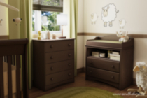 South Shore Angel Baby Bedroom Set Espresso