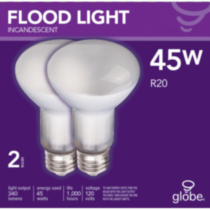 Incandescent R20 Flood 45W 2pk