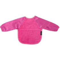 Mum 2 Mum Wonder Bib - Long Sleeved - Small Hot Pink